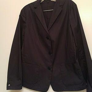 Preppy Navy thin blazer from Uniqlo